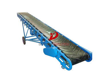 China Chemical Industry Ribbon 3kw Powered Belt Conveyor factory